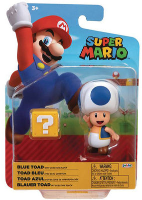 Super Mario World Of Nintendo 4 Inch Action Figure Wave 21 - Blue Toad