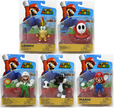 Super Mario World Of Nintendo 4 Inch Action Figure Wave 22 - Set of 5
