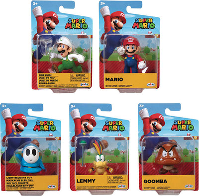 Super Mario 2.5 Inch Mini Figure World Of Nintendo Wave 25 - Set of 5