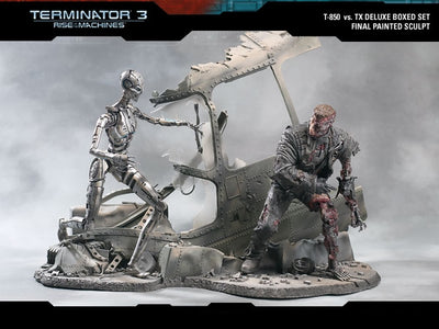 Terminator 3: Rise of the Machines T3 Deluxe BOXED Figure Set McFarlane Toys