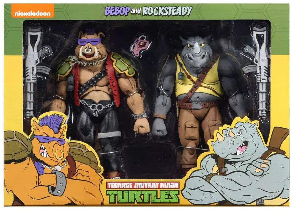 Teenage Mutant Ninja Turtles 7 Inch Action Figure 1980 Cartoon 2-Pack - Rocksteady & Bebop
