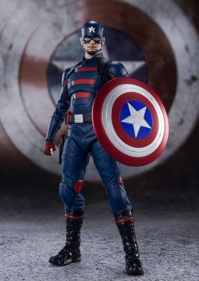 The Falcon and the Winter Soldier 6 Inch Action Figure S.H. Figuarts - Captain America John F. Walker