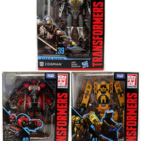 Transformers Movie Studios Series 5 Inch Action Figure Deluxe Class - Set of 3 (Cogman - Shatter - Scrapmetal)