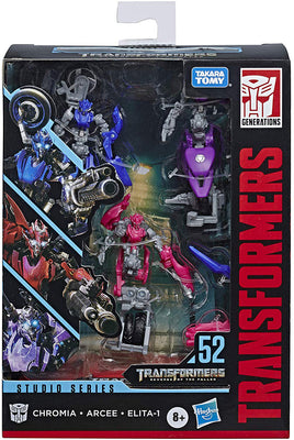 Transformers Studio Series 6 Inch Action Figure Deluxe Class - Arcee, Chromia, and Elita1 #52
