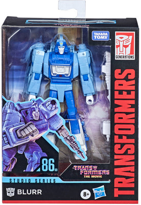 Transformers Studios Series 5 Inch Action Figure Deluxe Class (2021 Wave 1) - Blurr #86-03