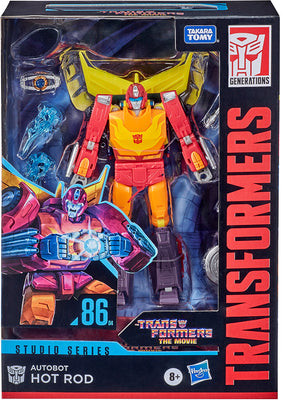 Transformers Studios Series 6 Inch Action Figure Voyager Class (2021 Wave 1) - Hot Rod #86-04