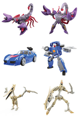 Transformers War For Cybertron Kingdom 6 Inch Action Figure Deluxe Class Wave 3 - Set of 3