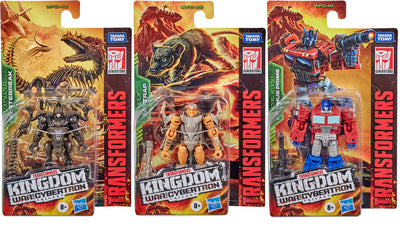 Transformers War For Cybertron Kingdom 3.5 Inch Action Figure Legends Class Wave 1 - Set Vertebreak - Optimus - Rattrap