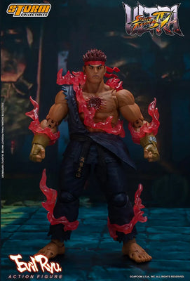 Ultimate Street Fighter IV 7 Inch Action Figure - Evil Ryu