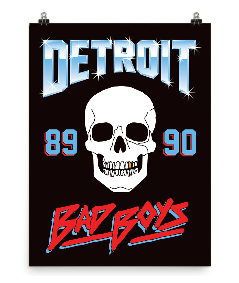 Detroit Bad Boys Poster Print