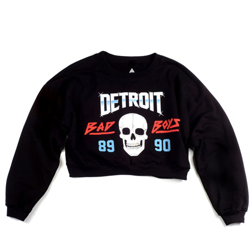Detroit Bad Boys Women's Cropped Crewneck | Black