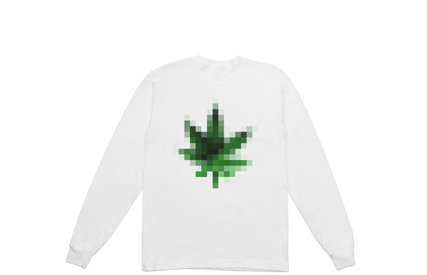 Blurred Pot Leaf Long Sleeve T-shirt