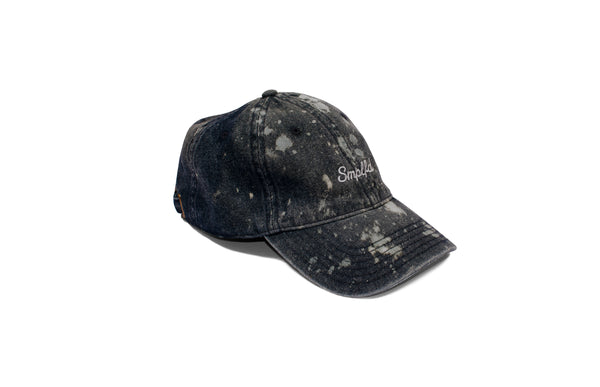SMPLFD Script Unstructured Dad Cap | Black Denim