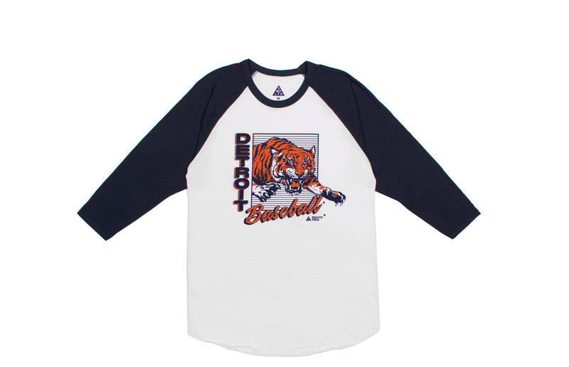 Detroit Baseball 3/4 Sleeve Tee
