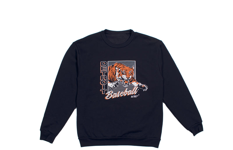 Detroit Baseball Crewneck Sweatshirt | Navy