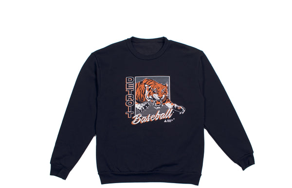 Leaping Tiger Crewneck Sweatshirt | Navy