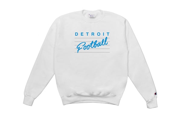 Detroit Football Crewneck Sweatshirt | White