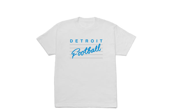 Detroit Football T-shirt | White