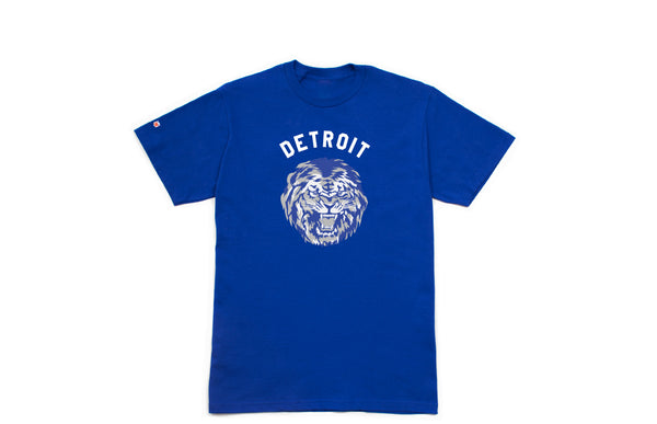 Detroit Football T-shirt | Royal