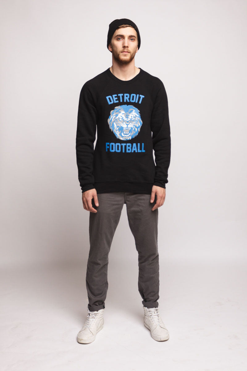 Detroit Football Crewneck | Black