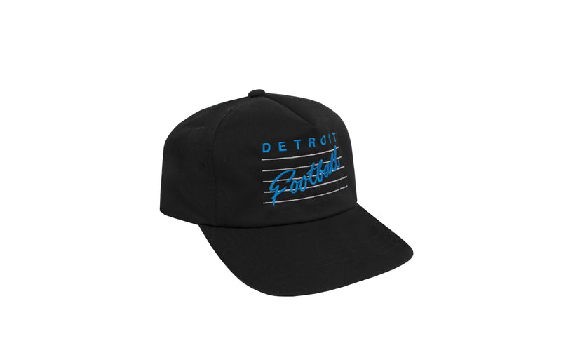 Detroit Football 5-Panel Snapback Hat | Black