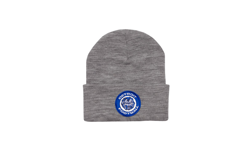 Detroit Football Patch Beanie | Grey