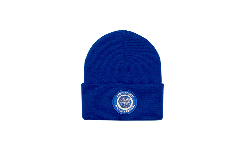 Detroit Football Patch Beanie | Royal