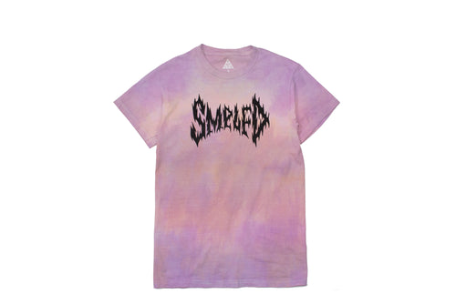 SMPLFD Black Metal Logo Hand Dyed T-shirt
