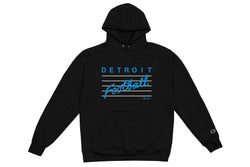 Detroit Football Hooded Sweatshirt | Black