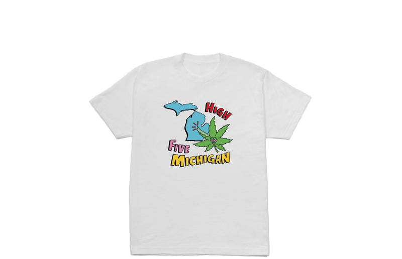 High Five Michigan T-shirt | White