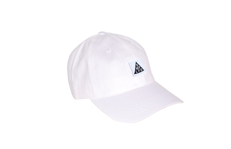 SMPLFD Woven Unstructured Dad Cap | White