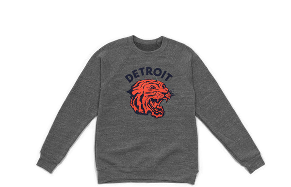 Neo-Tiger Crewneck Sweatshirt | Heather Grey