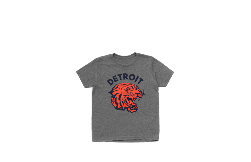 Neo-Tiger Kid's T-shirt | Heather Grey