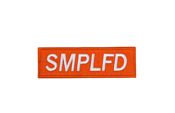 SMPLFD Bar Logo Patch | Orange