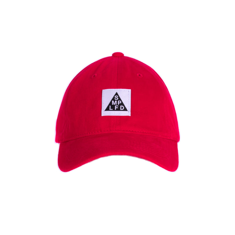SMPLFD Woven Unstructured Dad Cap | Red