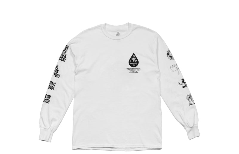 SMPLFD Printing Co Shop Long Sleeve T-Shirt