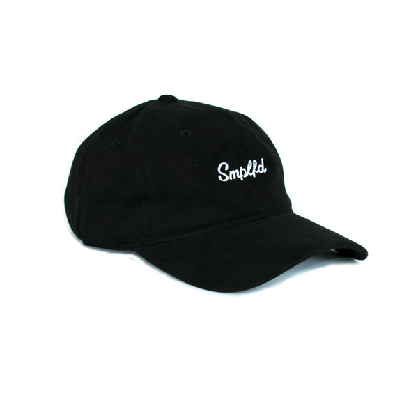 SMPLFD Script Unstructured Dad Cap | Black
