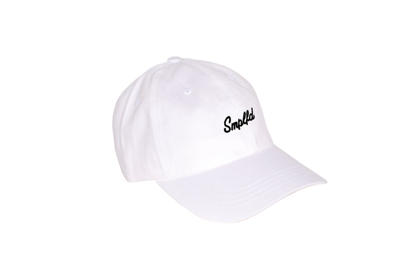 SMPLFD Script Unstructured Dad Cap | White