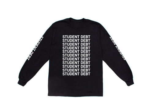 Student Debt Long Sleeve | Black