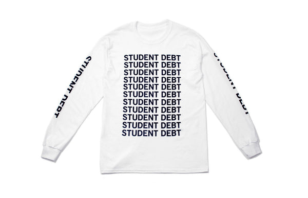 Student Debt Long Sleeve | White