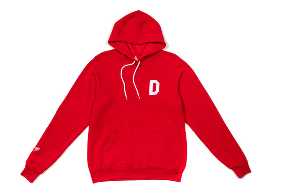 Felt D Pullover Hoodie | Red