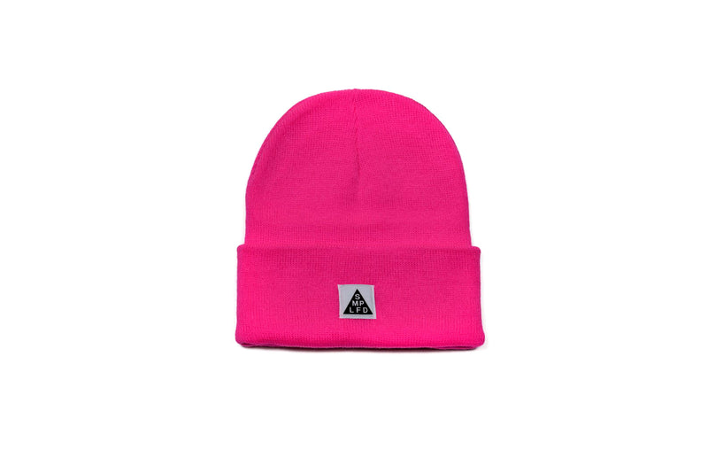 SMPLFD Woven Knit Beanie | Hot Pink