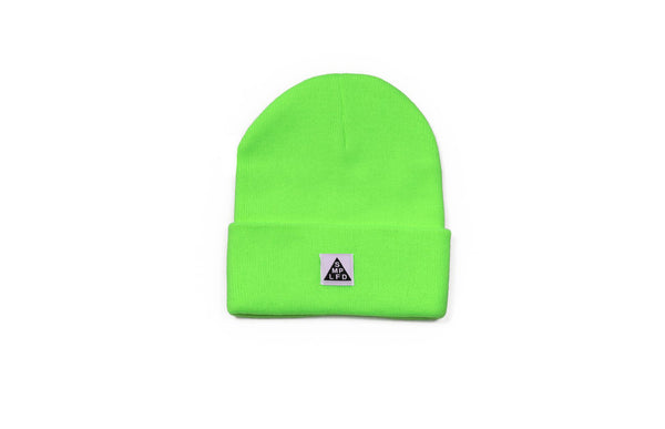 SMPLFD Woven Knit Beanie | Neon Green