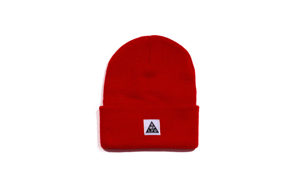SMPLFD Woven Knit Beanie | Red
