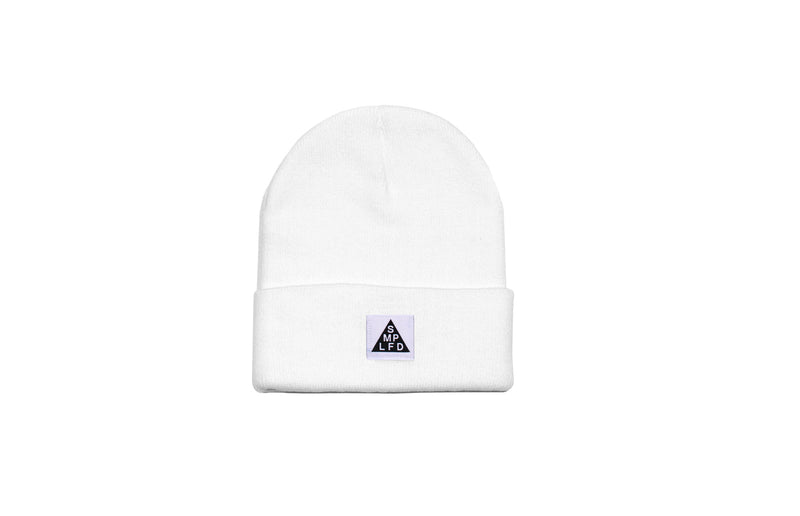 SMPLFD Woven Knit Beanie | White