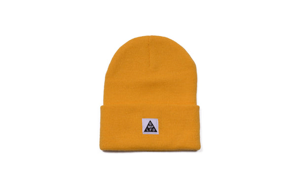 SMPLFD Woven Knit Beanie | Gold