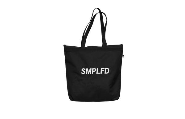 SMPLFD Black Zip Tote Bag