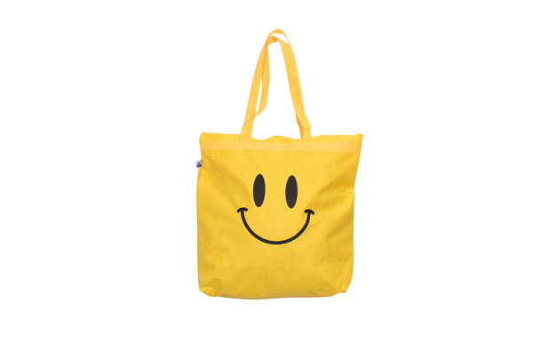 Smiley Yellow Zip Tote Bag