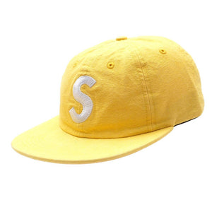 SUPREME WASHED CHAMBRAY S LOGO - 6 PANEL YELLOW