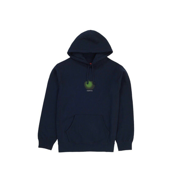 SUPREME APPLE HOODED SWEATSHIRT HOODIE NAVY